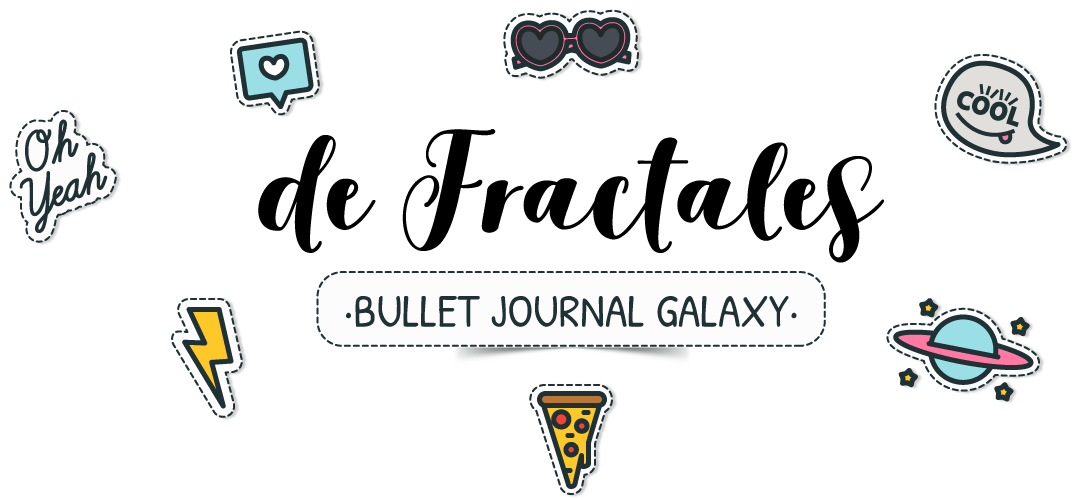 bullet journal galaxy de mandalas y fractales