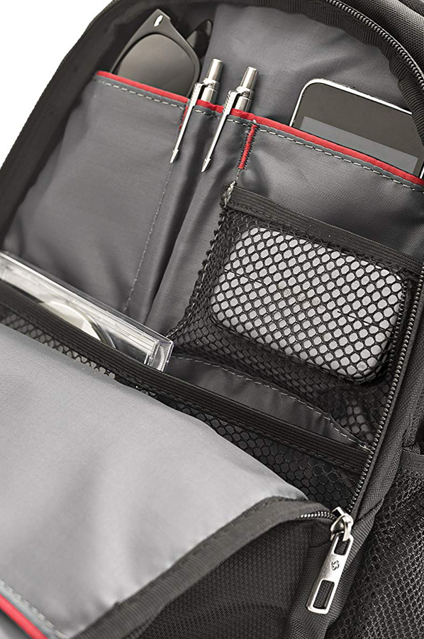 Bolsillos especiales para bolígrafos. Samsonite Guardit Laptop Backpack