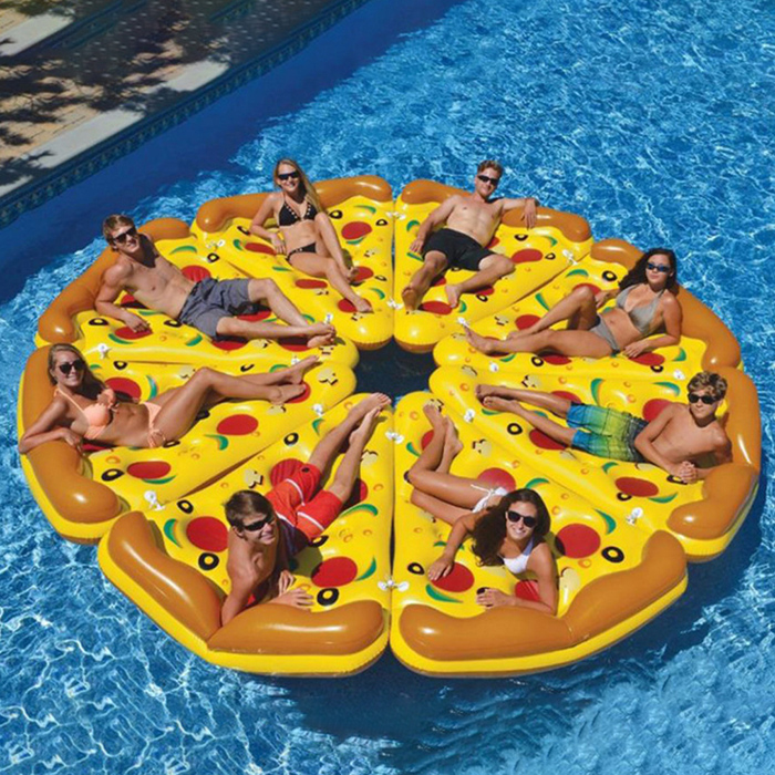 flotador hinchable de pizza